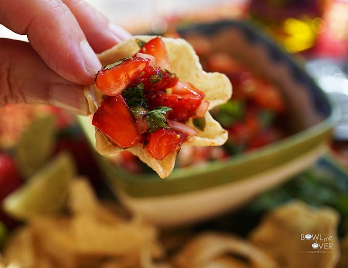 Never had Strawberry Salsa? Just take a bite and you'll love it!
