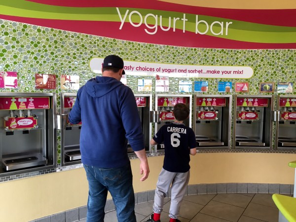 20+ dispensers at Menchie's Frozen Yogurt
