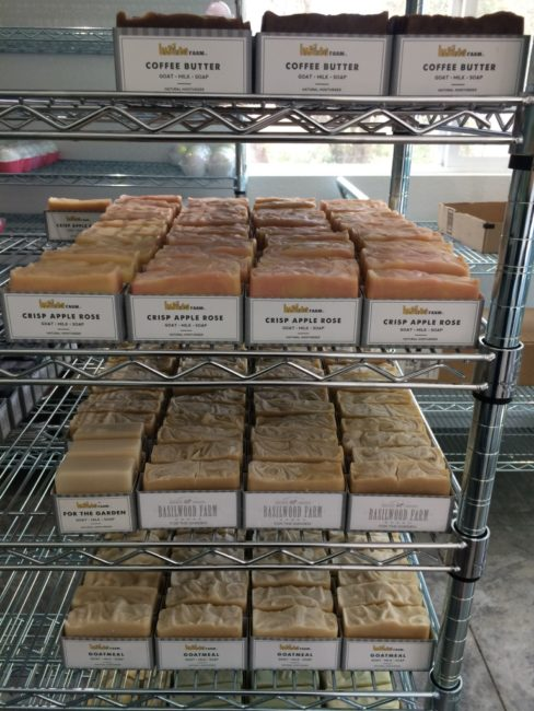 Some of the soaps at Basilwood Farm