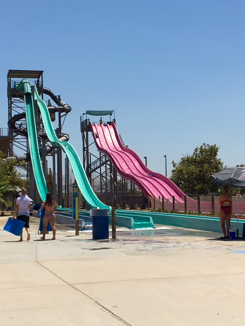Thrill seekers will enjoy these faster slides at Island Waterpark