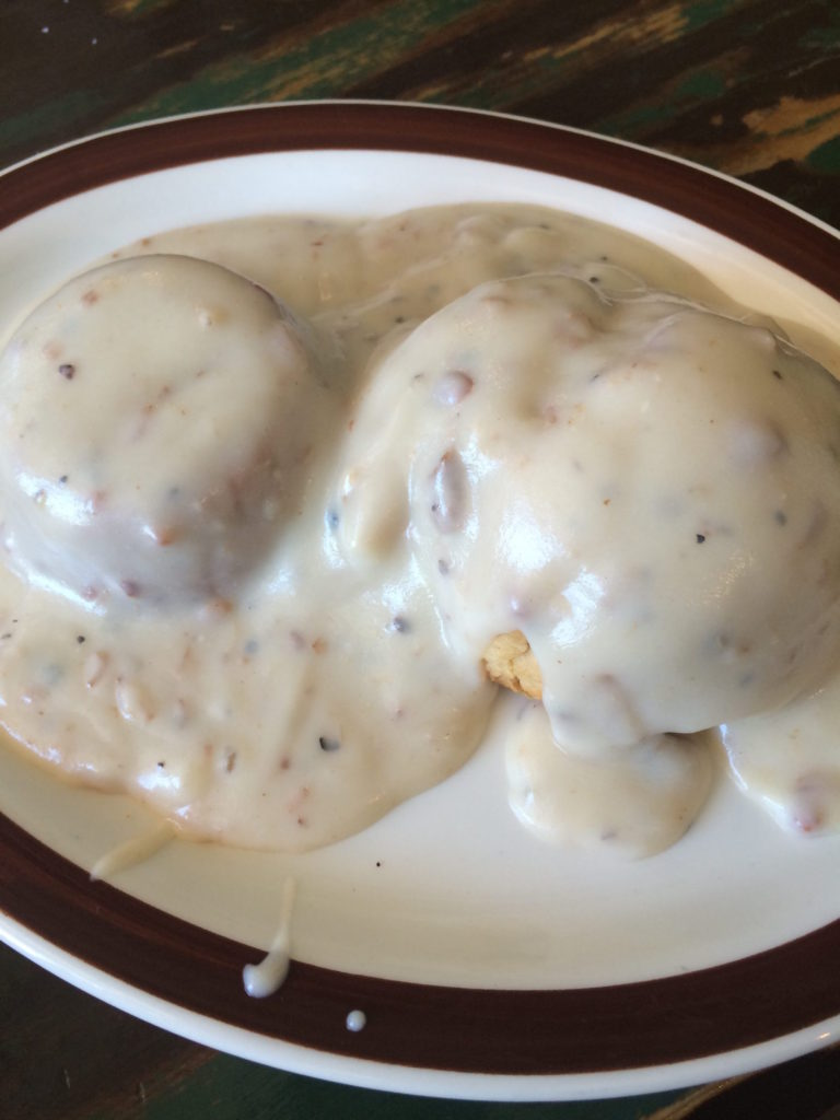 Biscuits and Gravy at BJ's Kountry Kitchen