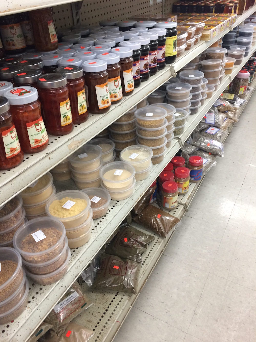 Spices!!! If there is a specific Middle Eastern spice you're looking for, I'm sure Fresno Deli has it.