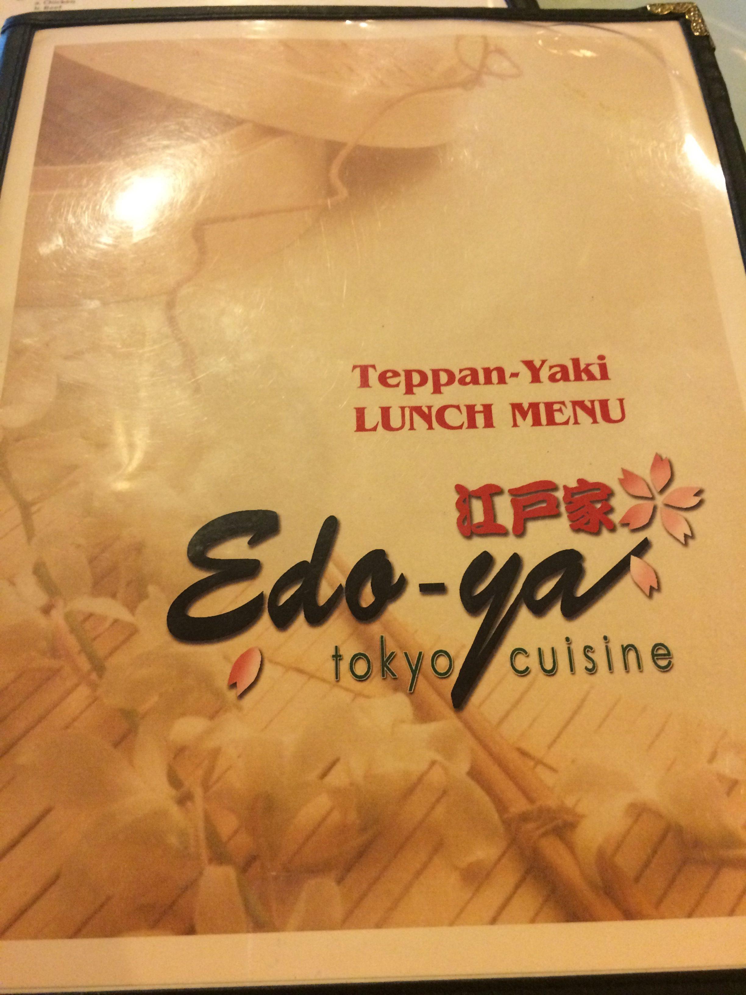 Edo-Ya Tokyo menu