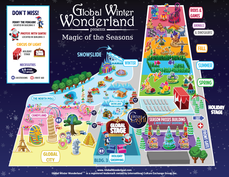 map of Global Winter Wonderland in Tulare
