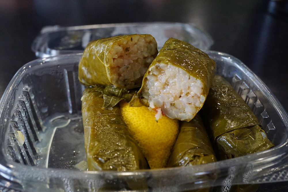 Stuffed Grape Leaves at Ark Mediterranean Grill