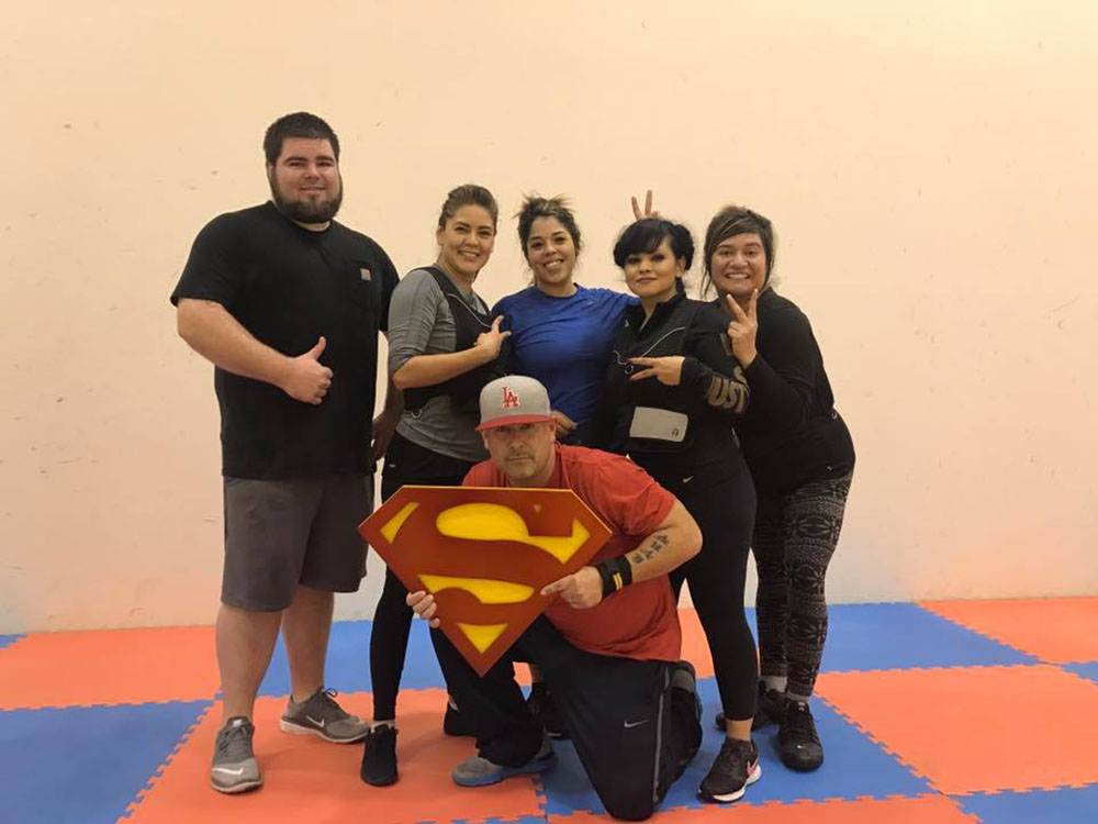 Richie Ortiz Valdivia and crew at Superman Fitness