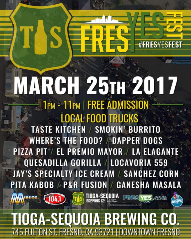 Food Lineup For FresYes Fest 2017