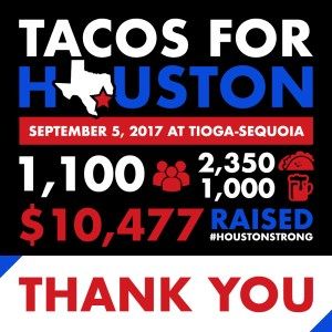 Tacos for Houston event raises over $10,000 for hurricane relief efforts