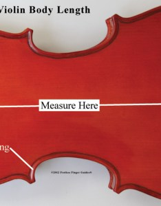 Image show how to measure the body of  violin or viola cello upright also bass size rh fretlessfingerguides