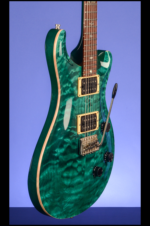 Custom 24 Turquoise Quilt 10Top Guitars  Fretted