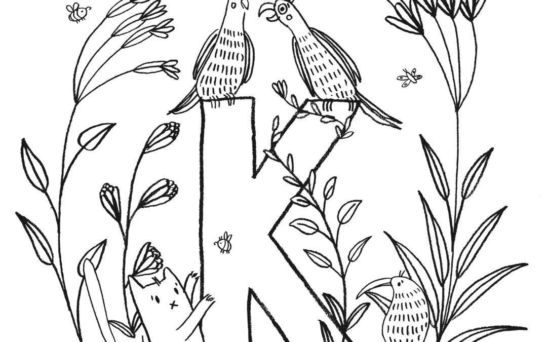 Kakadu Zum Ausmalen - Vorlagen zum Ausmalen gratis ausdrucken
