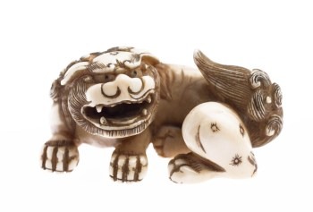 Netsuke in the form of a Shishi, Japanese, Edo Period