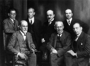 Image of Sigmund Freud, Otto Rank, Karl Abraham, Max Eitington, Ernest Jo