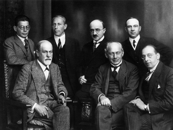Image of Sigmund Freud, Otto Rank, Karl Abraham, Max Eitington, Ernest Jo