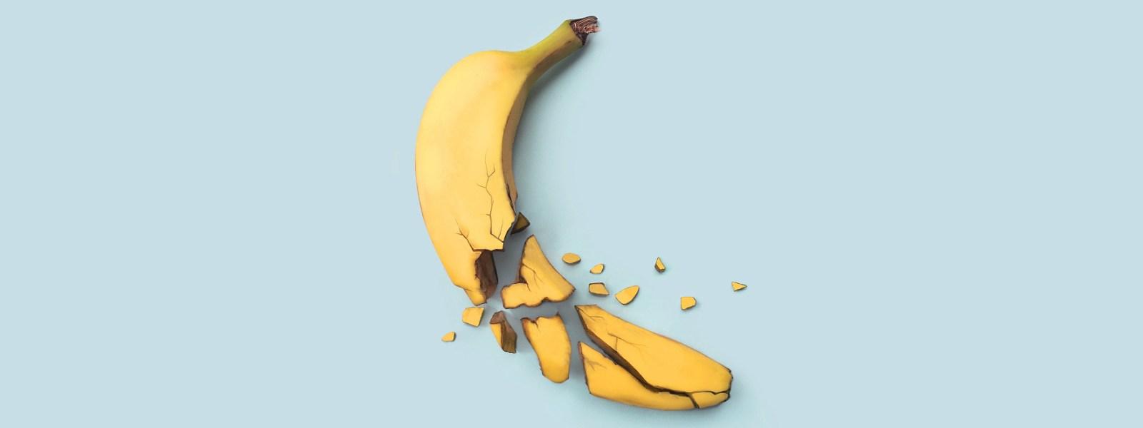 A broken banana