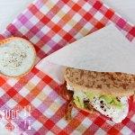 Fladenbrot Sandwich mit Schafskäse – vegetarisch