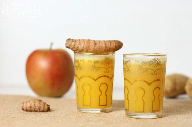 Apfel Ingwer & Apfel Ingwer Kurkuma Shot - Freude am Kochen vegan