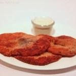 Parasol-Schnitzel mit veganer Panier und Sauce Tartar
