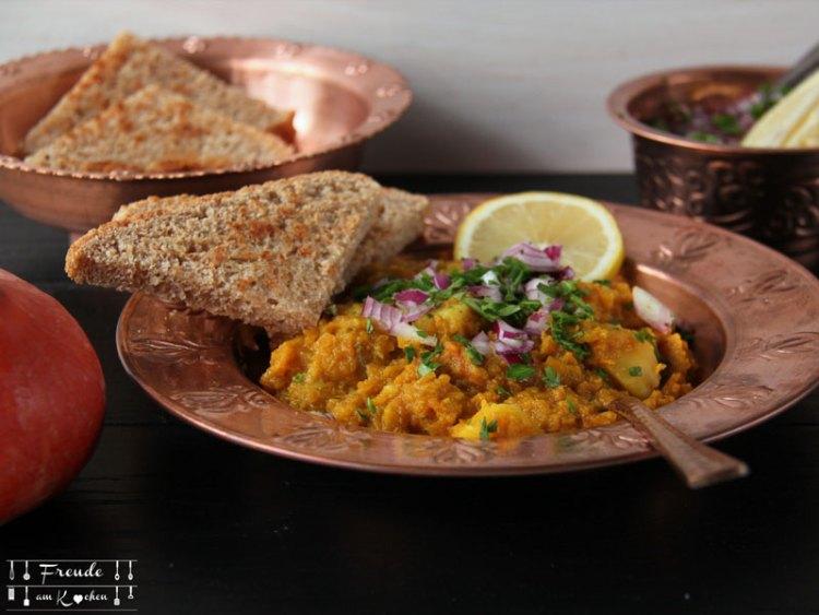Mumbai Pav Bhaji - Indisches Gemüse Curry -Kürbis Curry Variante - Freude am Kochen