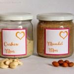 Mandelmus und Cashewmus selbermachen