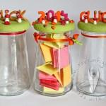 Glücks- und Dankbarkeits-Glas für 2015 basteln…