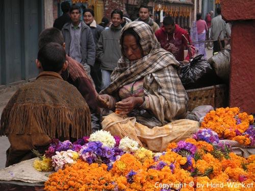 Kathmandu-Blumengirlande-c