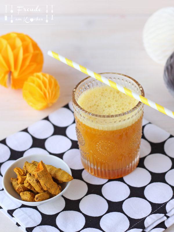 Kurkuma Orangen Ingwer Drink - mein Golden Power Drink - Freude am Kochen