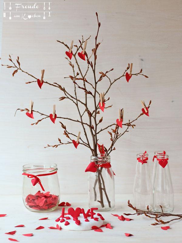 Valentinstags Herz Gesteck- DIY - Freude am Kochen
