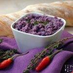 Lila Kartoffelaufstrich – Erdäpfelkas