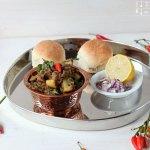 Melanzani Pav Bhaji – indisches Auberginen Gemüse
