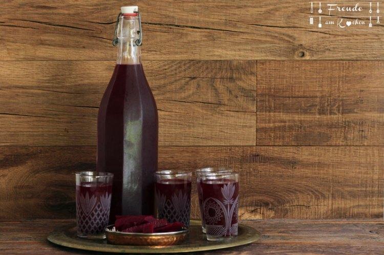 Kanji - indischer fermentierter Roter Rüben - Roter Bete - Drink - Freude am Kochen