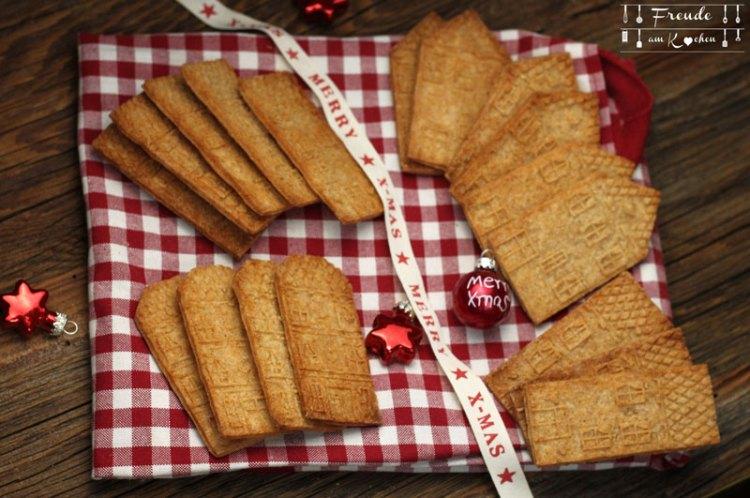 Marzipan Spekulatius - Weihnachtskekse vegan - Veganes Rezept - Freude am Kochen