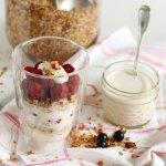 Griechischer Joghurt mit griechischem Honig – Vegetarisch