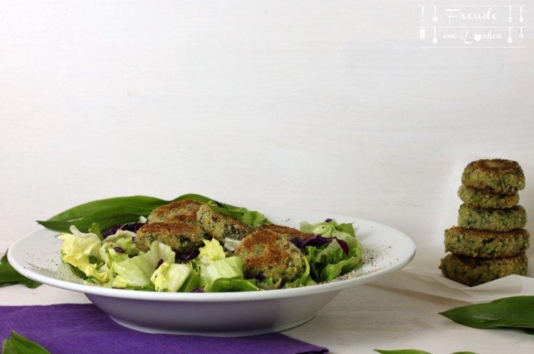 Bärlauch Quinoa Laibchen oder Patties - mit oder ohne Thermomix - vegan von Freude am Kochen