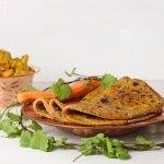 Indische Karotten Chapati