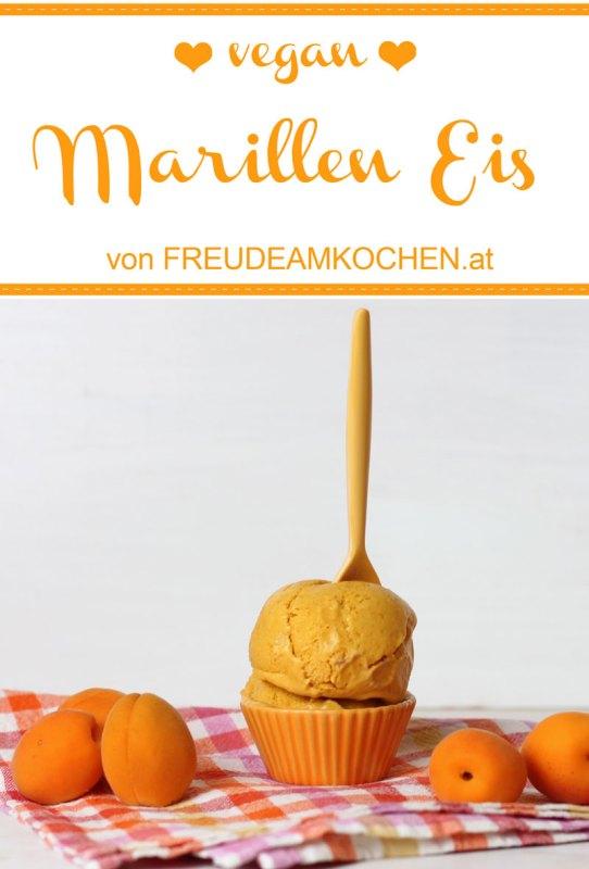 Veganes Marillen Kokos Eis - Aprikosen Eis vegan - Freude am Kochen