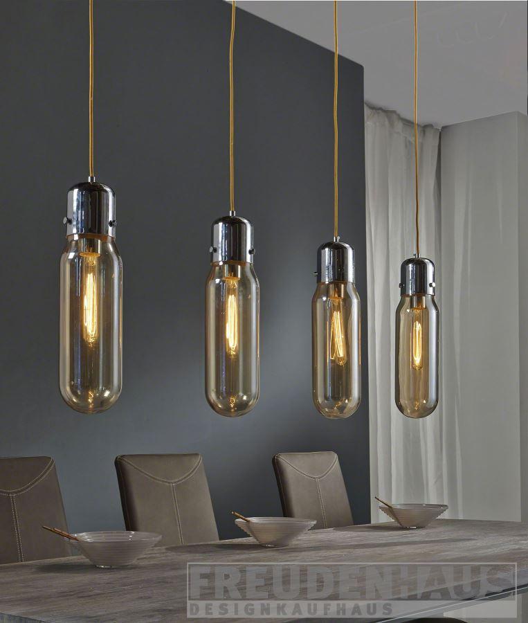 Hngelampe Bulb 4 Zylinder mit Glhfadenlampen Edison incl