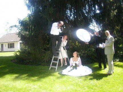 Bei der Arbeit Hochzeitsfotografie