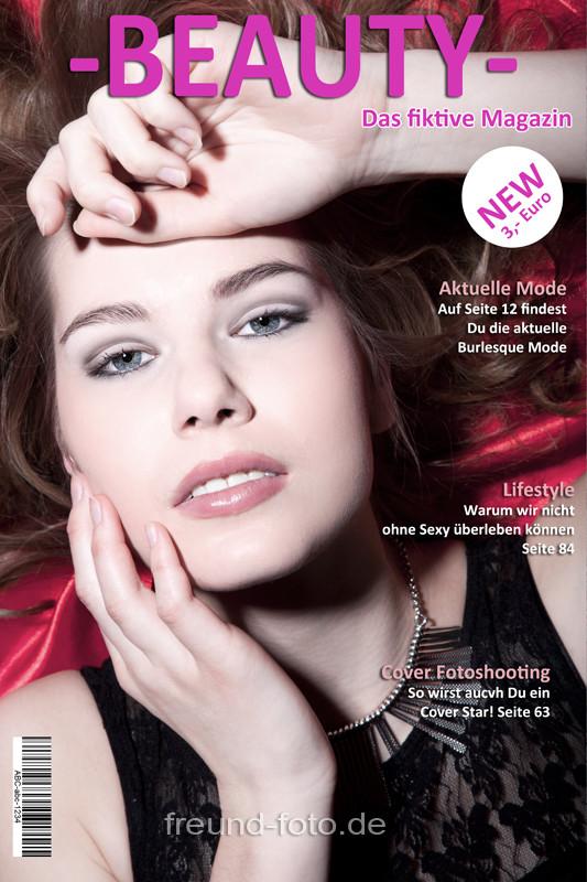 Titelseite mit junge Frau