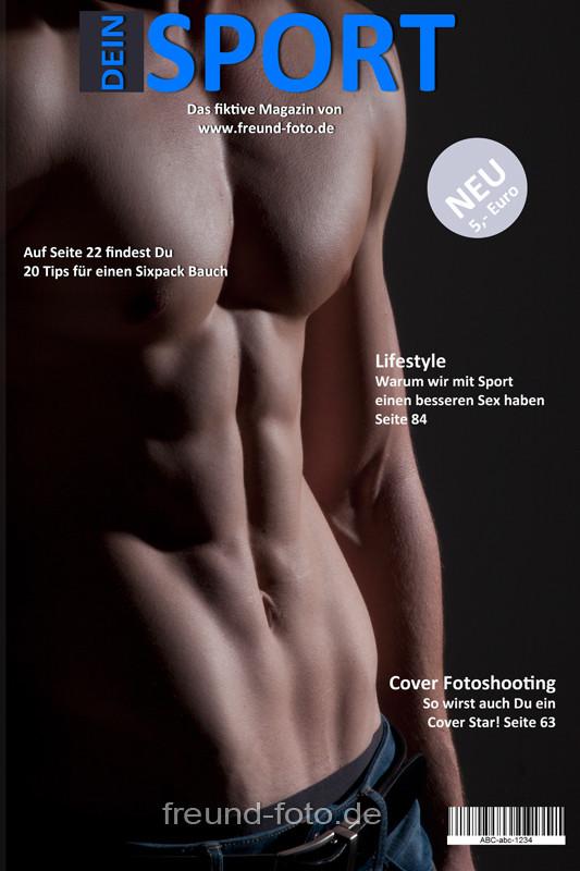 Titelseite Magazin Sixpack Mann