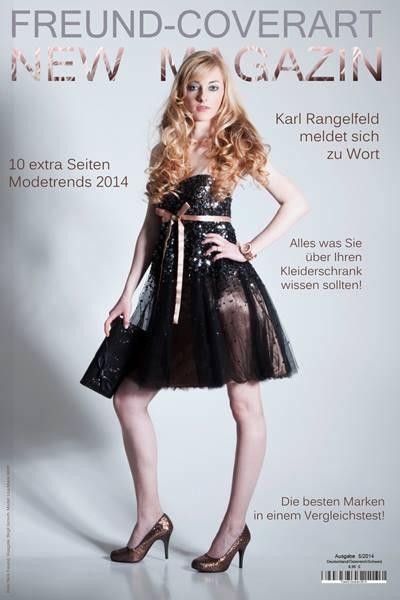 Titelseite mit Frau im Kleid Outfit