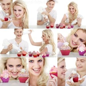 Model backt Cupcake