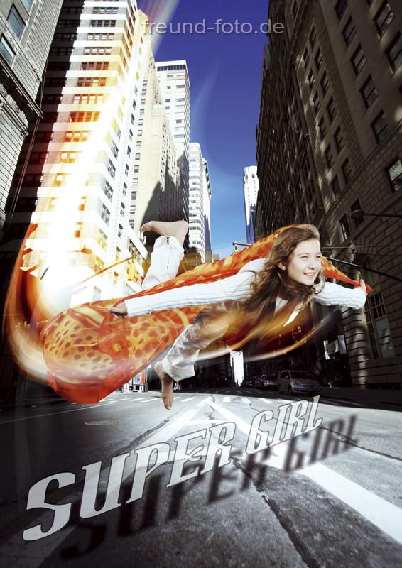 Kalender mit einer Frau die fliegt