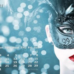 Kalender mit einer hübschen Frau
