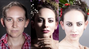 Direkter Vergleich Make Up für Beauty Shooting