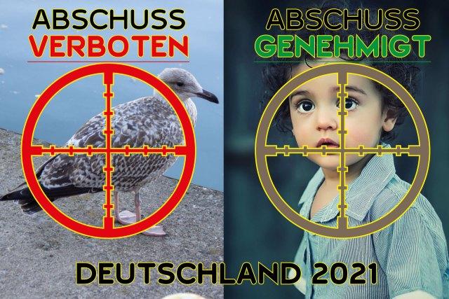 Ein Politischer Skandal: Kinder in Schleswig-Holstein zum Abschuss freigegeben / Bild: A.W. www.freunde-der-erkenntnis.net