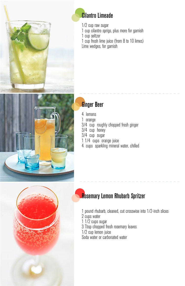 Three summer drinks freutcake for Cool alcoholic drink names