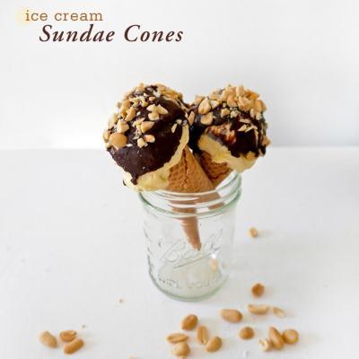 Ice Cream Sundae Cones