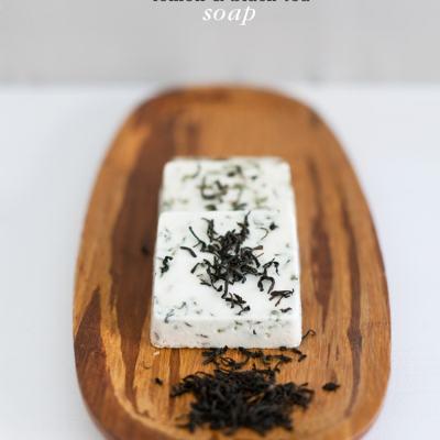 Homemade Lemon Black Tea Soap