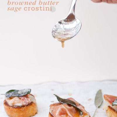 Browned Butter Sage Crostini